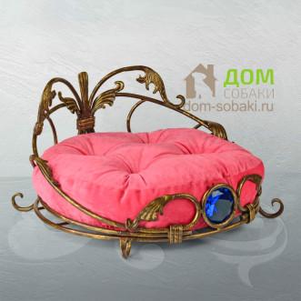 Кованый лежак Франческа — купить по выгодной цене в Москве и Московской области с доставкой, фото