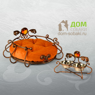 Кованый лежак Грация — купить по выгодной цене в Москве и Московской области с доставкой, фото