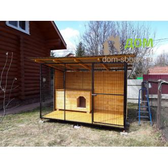 Вольер для овчарки 3х2х2 с будкой — купить по выгодной цене в Москве и Московской области с доставкой, фото