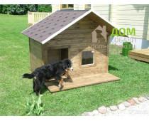 Будка для собаки с лежанкой