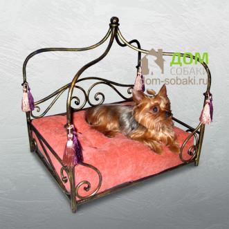 Кованый лежак Жасмин — купить по выгодной цене в Москве и Московской области с доставкой, фото