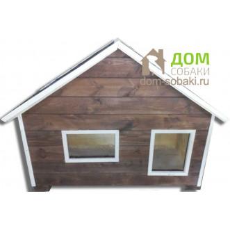 будка с двускатной крышей