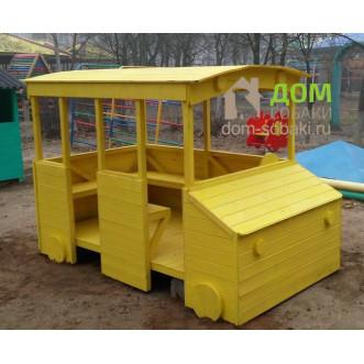 Детский деревянный автобус