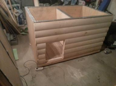 Постройка будки для собаки из бруса