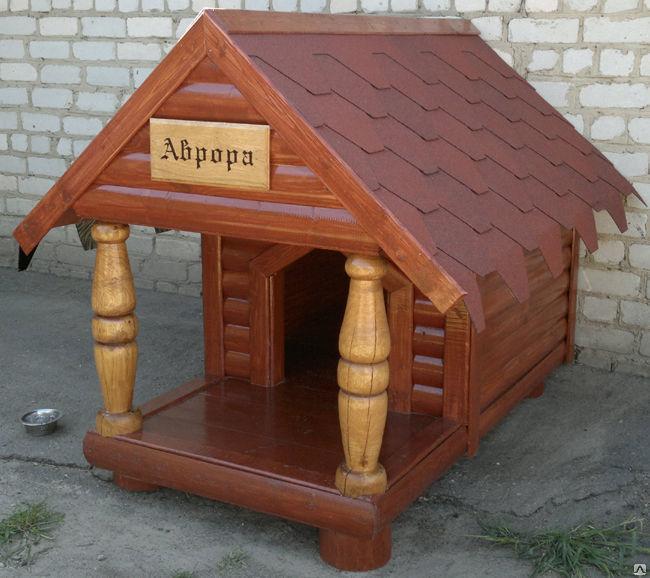 будка для собаки из клееного бруса