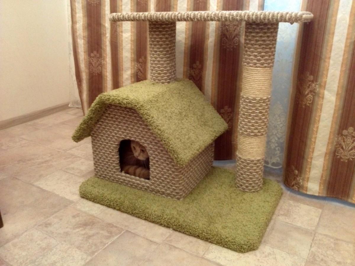 Как своими руками построить кошке дом из фото 439