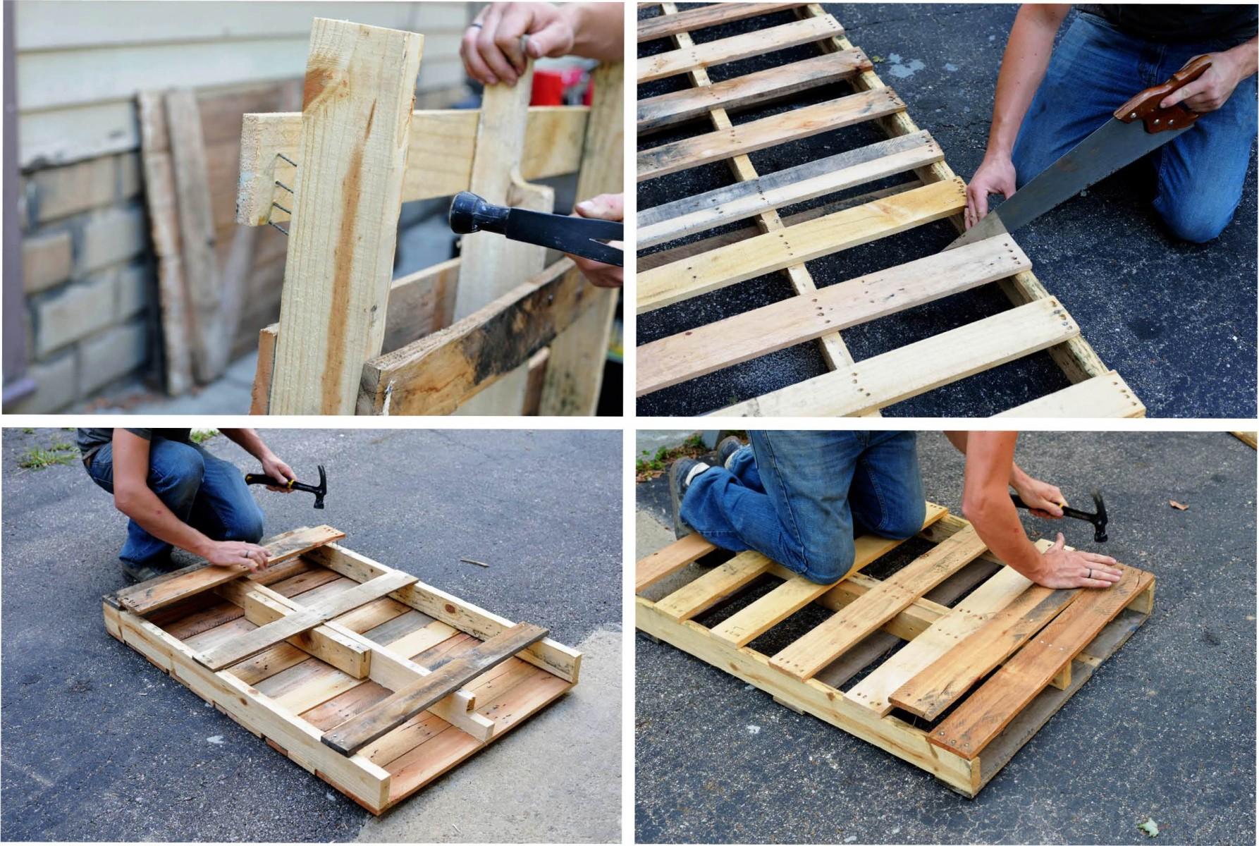 Использование старых деревянных поддонов в быту