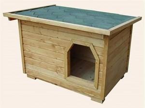 Будка для алабая с односкатной крышей